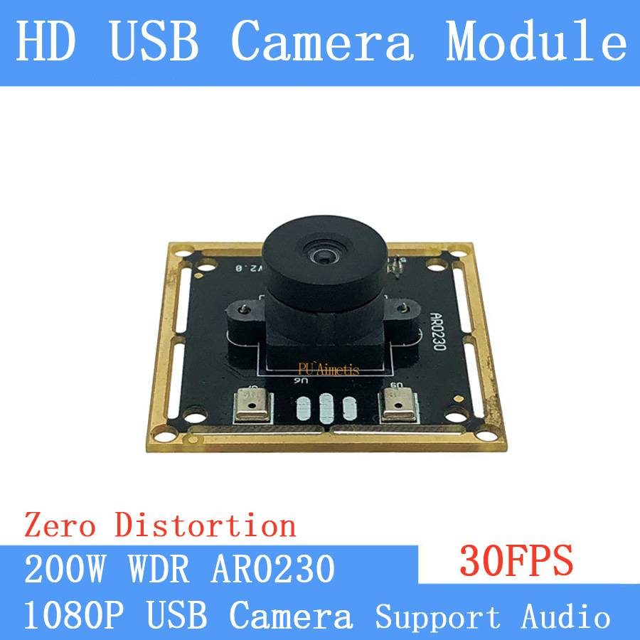 Wide Dynamic Face Recognition Zero distortion 2MP AR0230 30FPS USB camera module shooting 1080P CCTV Camera Support double audioWide Dynamic Face Recognition Zero distortion 2MP AR0230 30FPS USB camera module shooting 1080P CCTV Camera Support double audio