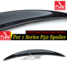 F52 RIDE Style Rear Spoiler Wing For BMW 1-Series 3 Boxes Of Cars Carbon Fiber Trunk Lip Decoration 2016+