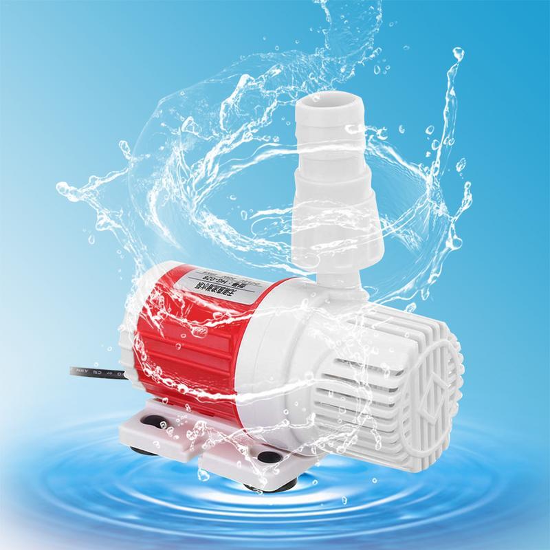 DC12V 20W Portable 1100L//H Max Lift 5M Submersible Water Pump Aquarium Fish Tank