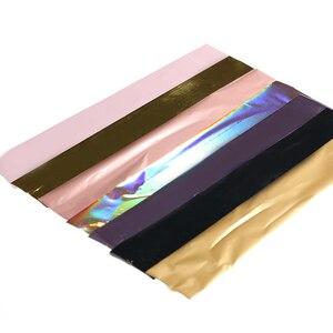 Image 2 - Feuilles Laser pour ongles, autocollants de transfert brillant, flocons de couleurs AB, pointe de transfert brillant, pour décoration et Nail Art, 7 couleurs/kit
