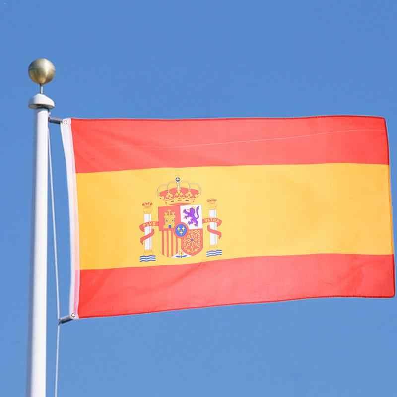 90x150cm สเปนธง 3x5 ฟุต Super Poly ฟุตบอลธงในร่มกลางแจ้งโพลีเอสเตอร์ธงแห่งชาติธงธงสำหรับตกแต่งบ้าน