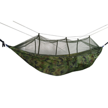 Outdoors Backpacking Hammock Survival Camping Travel Portable Lightweight Parachute Nylon with Mosquito Net