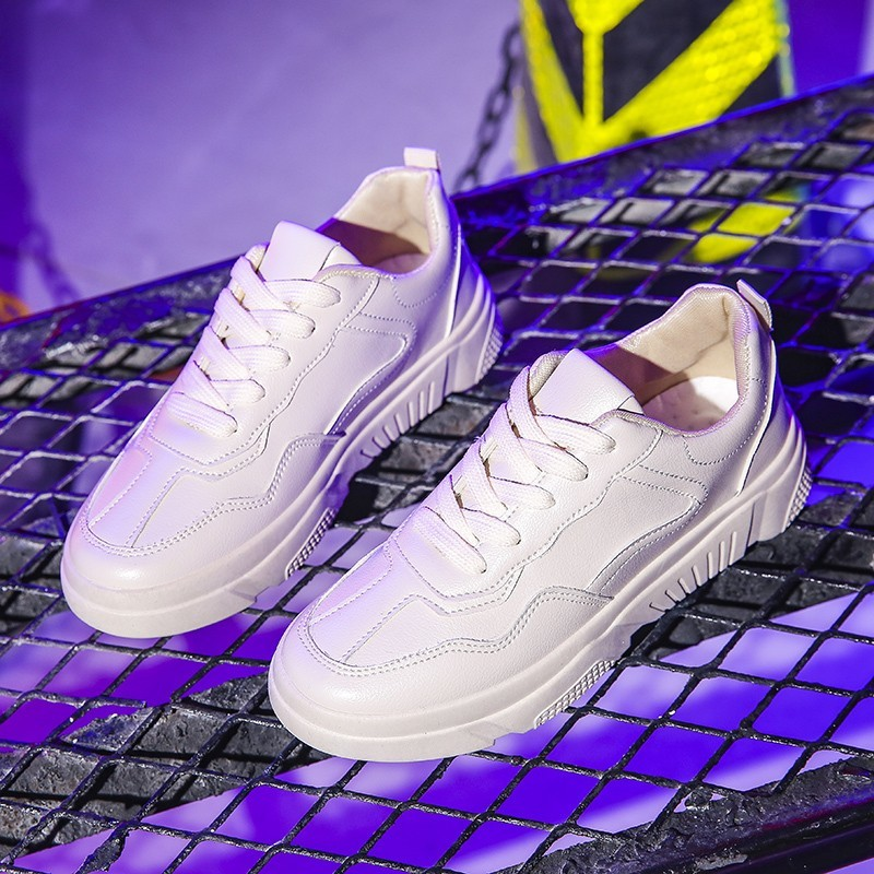 Femme Zapatillas Mode Casual Plat Up Sneakers Corée Blanc Chaussures Mujer Lace Beige Tenis blanc Femmes Feminino Respirant XRxOPqSw