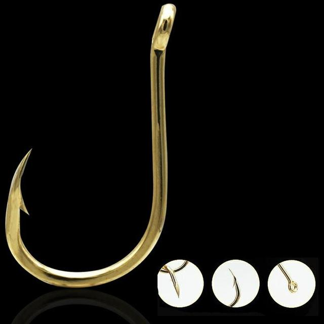Best No1 Carbon Steel Gold/Silver Carp Fishing Bait Fishhooks cb5feb1b7314637725a2e7: Gold|Silver