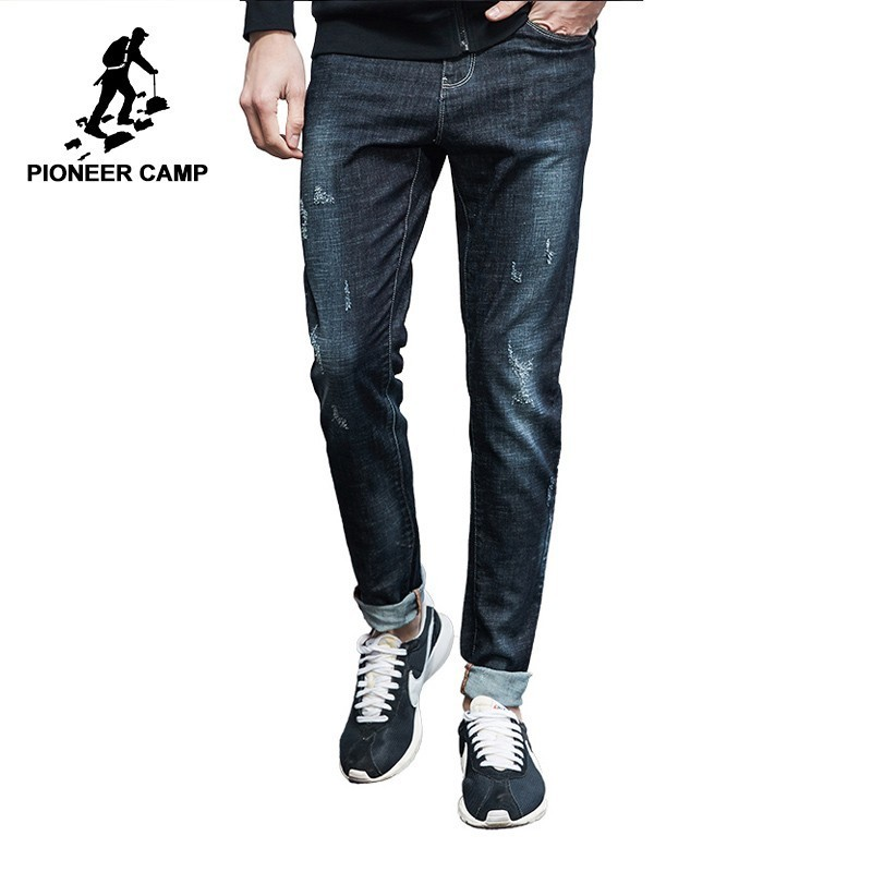 Pioneer Camp New Casual Jeans Men Brand Clothing Fashion Solid Denim Trousers Male Slim Fit Denim Pants
