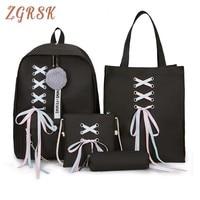 Комплект из 4 предметов мода рюкзак Для женщин для отдыха Back Pack Япония дамы рюкзак Повседневное Для женщин девочек-подростков Классический ...