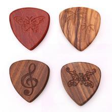 1PCS Solid Wood Picks Plectrum Guitars High-end Fingerpicks Musical Instrument Guitar Accessories 26*30mm