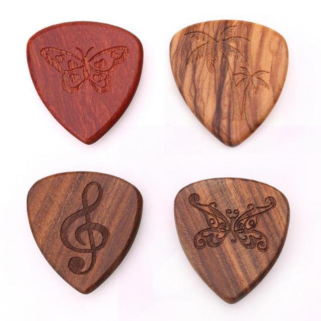 1PCS Solid Wood Picks Plectrum Guitars Picks High-end Picks Fingerpicks Musical Instrument Guitar Accessories 26*30mm