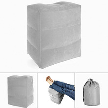 Inflatable Foot Rest Pillow Portable Cushion Footrest Mat Travel Leg Relax Pad for Home Office WXV Sale цена