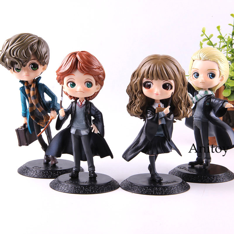 QPosket Movie Character Cute Hermione Granger Ron Weasley Newt Scamands Draco Malfoy Action Figure Collection Toys guerre moderne lego
