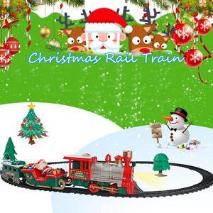 Image 5 - 22PCS Kinderen Spoor Treintje Speelgoed Elektrisch Licht Muziek Trein Simulatie Classic Power Trein Set nieuwjaar Gift voor kid