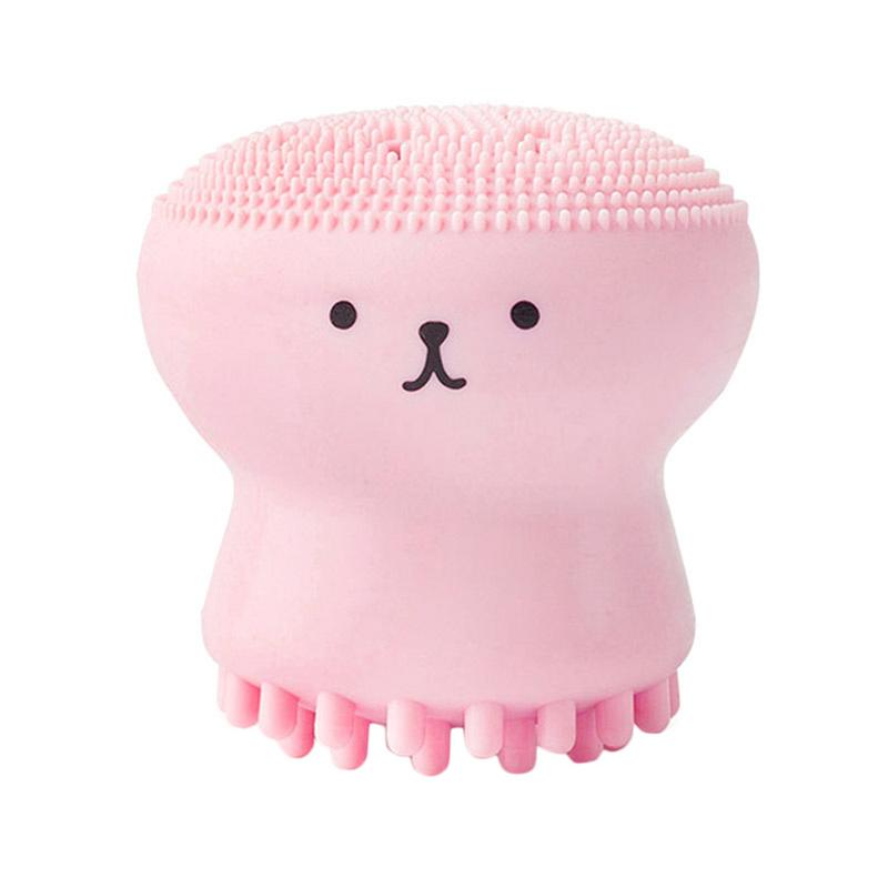 Beauty Face Skin Care Cleaning Tools Cute Octopus Jellyfish Facial Cleansing Brush Facial Puff Massage Exfoliating Wash Tool 40