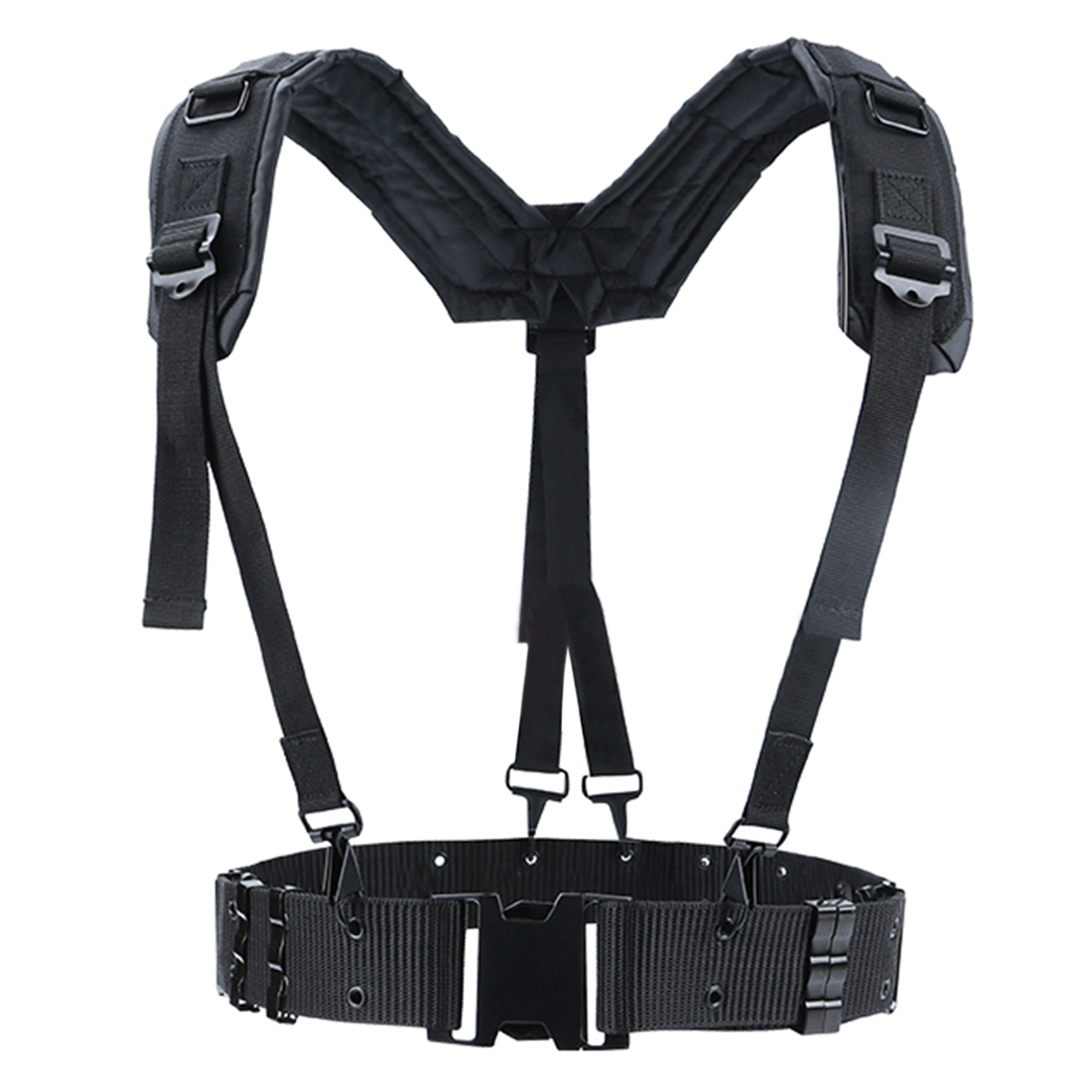 HS Adjustable Tactical Lightweight Waist Belt Harness Set for Outdoor Military Shoulder Waist Protective Band for AdultHS Adjustable Tactical Lightweight Waist Belt Harness Set for Outdoor Military Shoulder Waist Protective Band for Adult