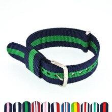Nylon Watchband 18mm 20mm Watch Straps Women Men Nato Strap Bracelet Woven Band Bileklik Pulseira Correa Reloj WB001