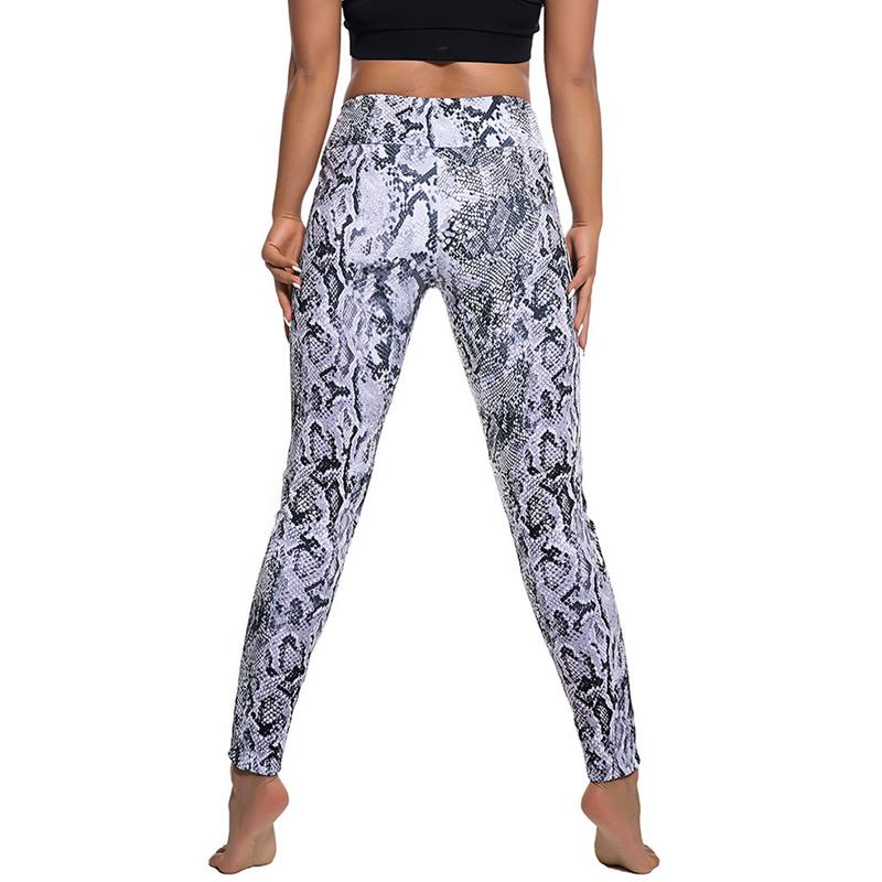 2019 Yoga Pants Snake Print Lift Hip High Waist Sports Leggings Fashion Slim Fitness Workout Training Slim Leggins Sportswear