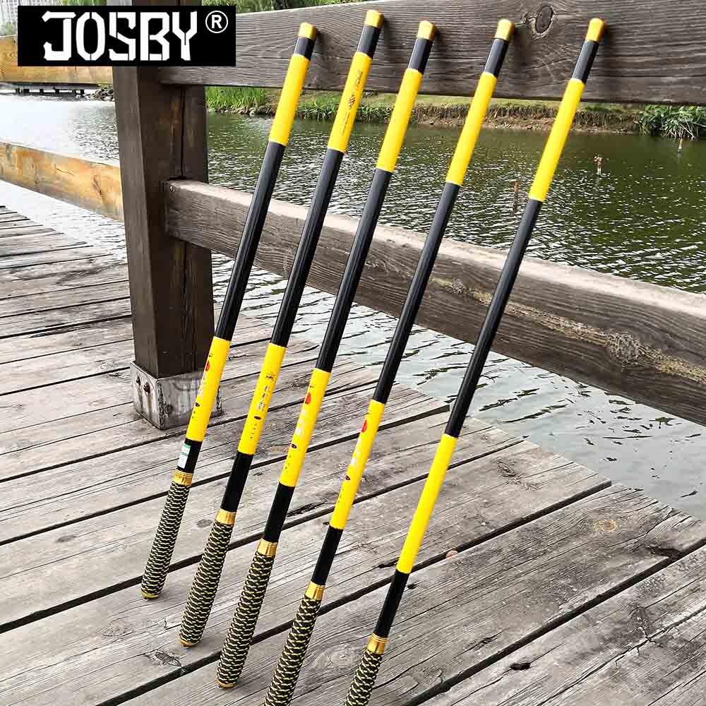 Nova ultralight superhard 3.6/4.5/5.4/6.3/7.2 metros fluxo mão pólo de fibra carbono fundição telescópica varas pesca peixe enfrentar