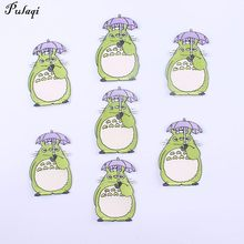Pulaqi 5Pcs Totoro Patches Decor For Jeans Kids Embroidered Sewing Iron On Sticker Anime Clothing Badge Hat Garment Diy H(China)