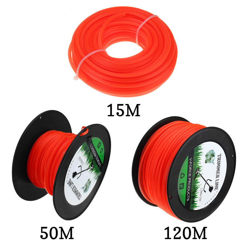 Best 2.7mm 50m/120m Mowing Nylon Rope Line Strimmer Brushcutter Trimmer Long Round Roll Square Grass Trimmer Head Nylon lineBest 2.7mm 50m/120m Mowing Nylon Rope Line Strimmer Brushcutter Trimmer Long Round Roll Square Grass Trimmer Head Nylon line