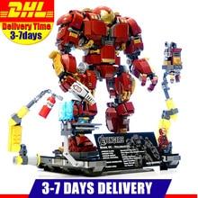 Мстители Супер Герои Железный человек Халк Бастер Совместимость с Lego строительные блоки Marvel строительные кирпичные Фигурки игрушки для детей