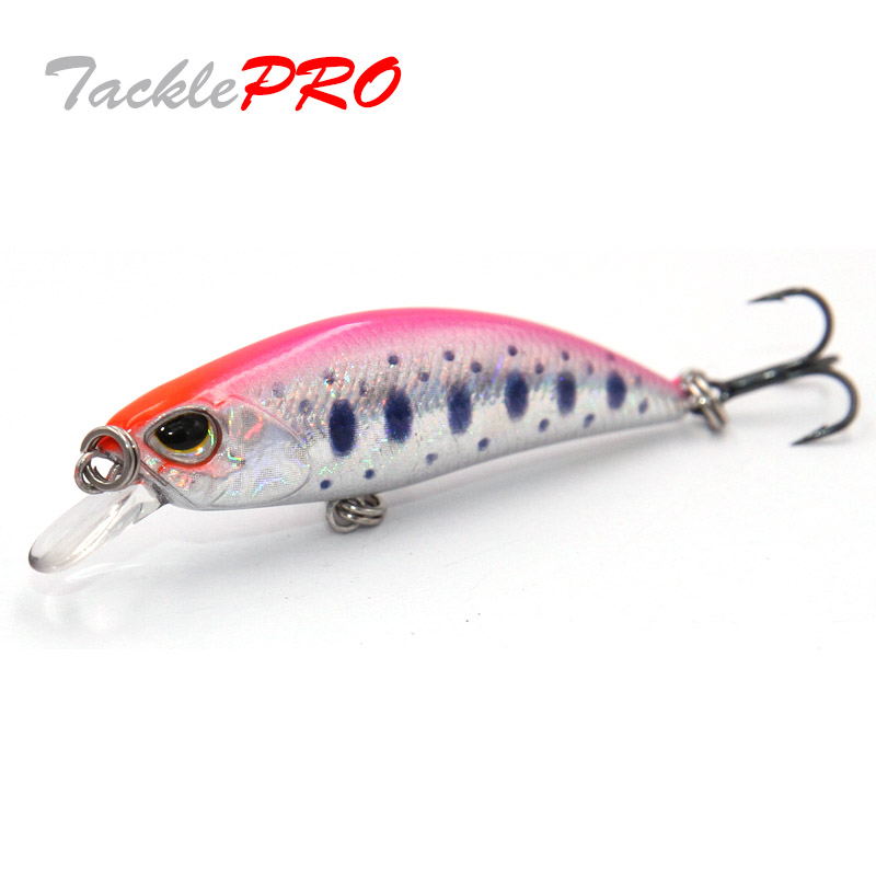 TacklePRO M51 Jerkbait Small Minnow Wobblers Hard Bait Sinking Fishing Lures 4g 5cm Crank fishing Tackle Bass Fresh Saltwater