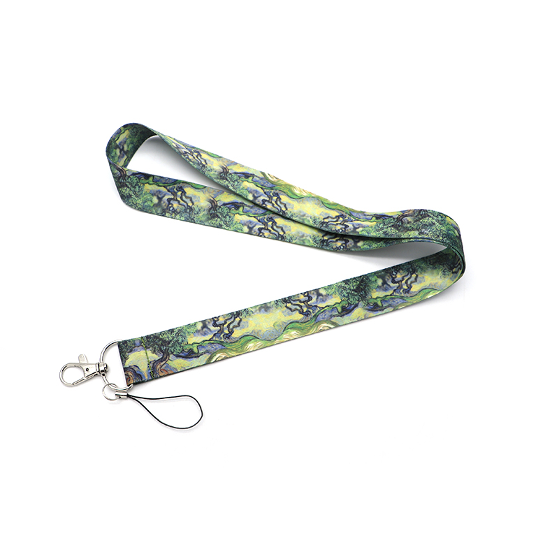 Koolbey Van Gogh Cypress Tree Lanyard Badge ID Lanyards/ Mobile Phone Rope/ Key Lanyard Neck Straps Accessories SC4586