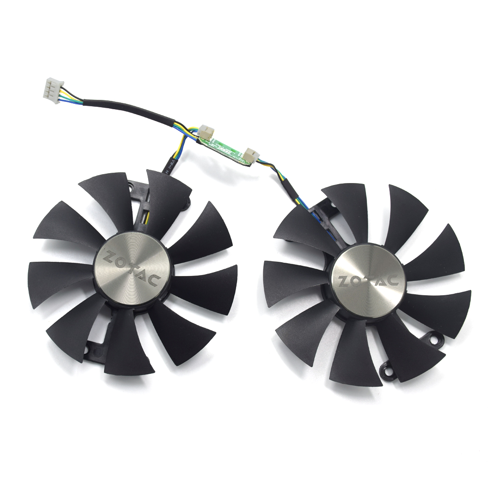 Original New 87MM GA91S2H DC 12V 0.35A Cooler <font><b>Fan</b></font> Replace For <font><b>ZOTAC</b></font> GeForce <font><b>GTX</b></font> <font><b>960</b></font> AMP 980Ti Graphics Video Card Cooling <font><b>Fans</b></font> image