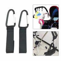 Colgadores de cochecitos duraderos para bebés al aire libre cómodos ganchos ajustables de longitud para cochecito para colgar diseño exquisito