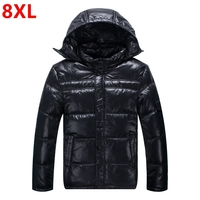 Add fertilizer plus size men's collar down jacket big size middle aged thick large size down jacket 8XL 7XL 6XL 5XL 4XL