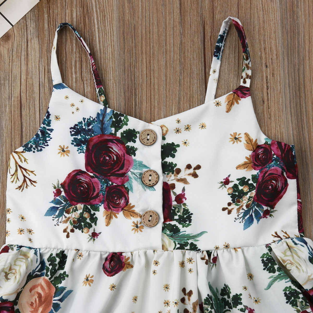 لطيف طفل بنات زهرة فستان بدون أكمام موديل برنسيس فستان الشمس لحديثي الولادة طفلة الرضع ملابس الأطفال طفل ملابس الصيف