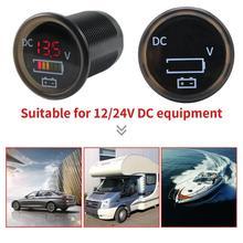 VODOOL Digital Color Volt Meters Display Voltmeter IP67 Waterproof for 12/24V Car RV Boat Marine IP67 Protection level Voltmeter