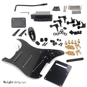 Image 5 - DIY Elektrische Gitarre Kit Tuning Pegs Schlagbrett Zurück Abdeckung Brücke System ST Stil Voller Zubehör Kit Für Gitarre Teile