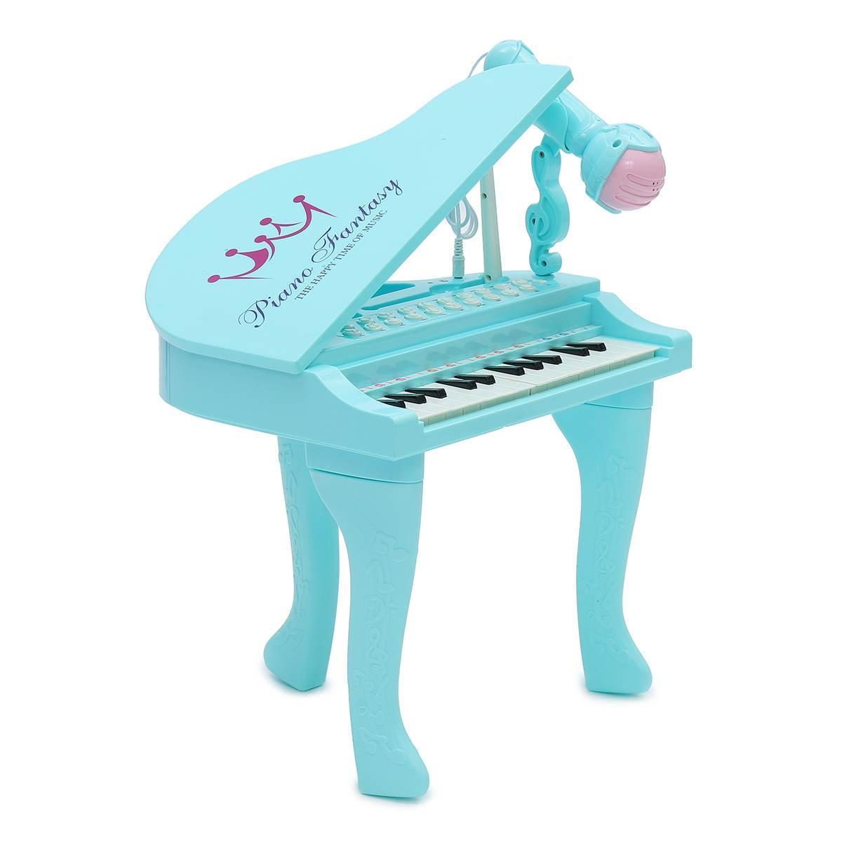 Électronique 25 touches clavier jouet orgue USB enfants Piano Microphone Instrument de musique jouant jouet ensemble rose/bleu enfants cadeaux - 6