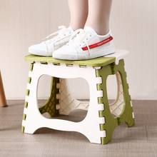 Children Furniture Plastic Folding Stool Portable Folding Chair Small Chair Home Furniture Child Convenient Dinner Stool(China)