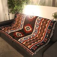 Sofa Blanket Home Decor Aztec Navajo Towel Mat Throw Wall Hanging Cotton Rugs Classic Woven 130x160cm Machine Washable Picnic