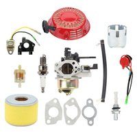 Carburetor Kit For Honda GX240 GX270 Recoil Starter Ignition Coil Air Filter Replacement Of OEM Part Number 16100 ZE2 W71