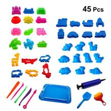 45pcs Beach Toys Fun Summer Molds Playset Sand Toy Sandbox Toys for Toddler Kids Children(China)