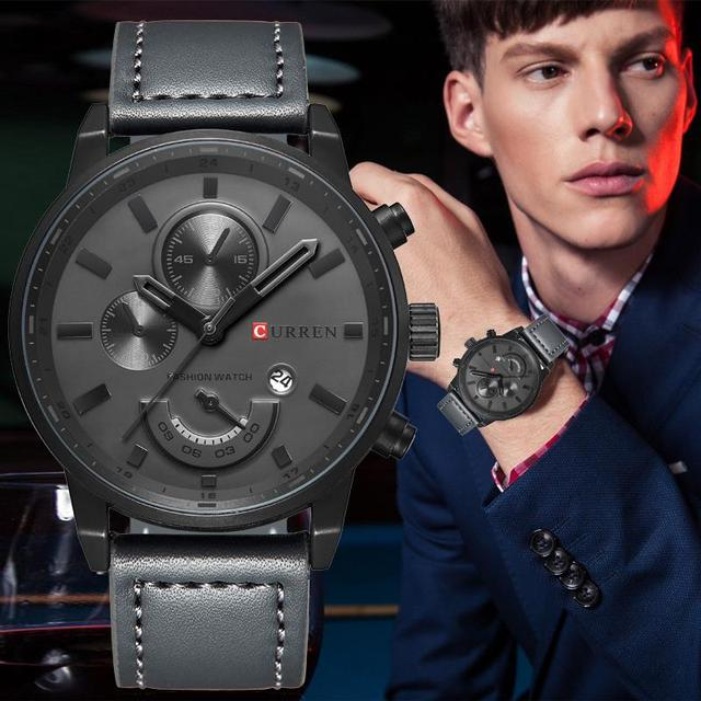 Top Brand Luxury Men's Sports Watches Fashion Casual Quartz Watch Men Military Wrist Watch Male Relogio Clock CURREN 8217@32952047724