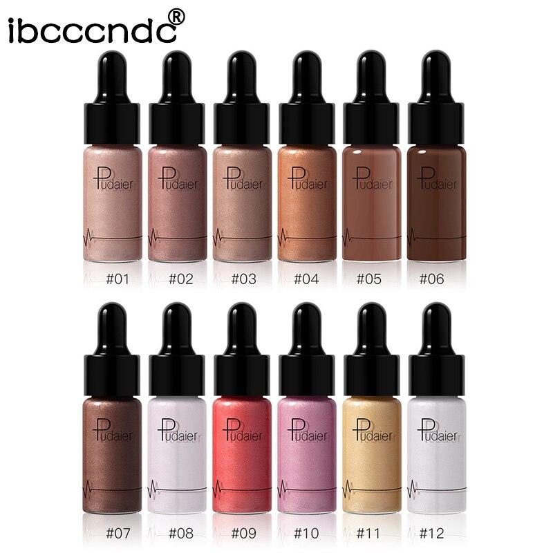 1pc Sexy Liquid Highlighter Make Up Oil Illuminating Concealer Shimmer Shine Lips Face Glow Bronzer Highliter Base Primer