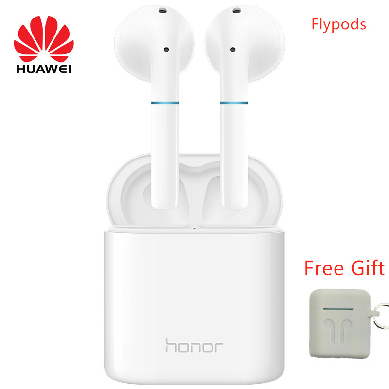 HUAWEI honor FlyPods Wireless Bluetooth Waterproof headset Earphone supports Noise Cancelling Handsfree Mic with free gift