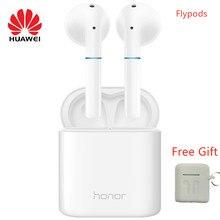 Huawei honor flypods sem fio bluetooth fone de ouvido à prova dwaterproof água suporta cancelamento de ruído microfone handsfree com dom gratuito