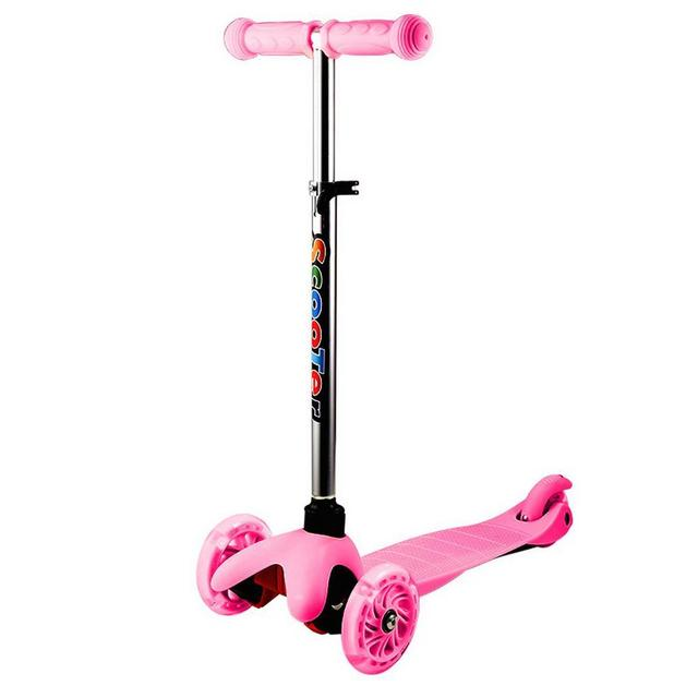 Tricycle Kick Scooter Children's Foot 3-Wheel  Scooters Adjustable Height with LED Light Wheel Patinete Infantil kids Scooter