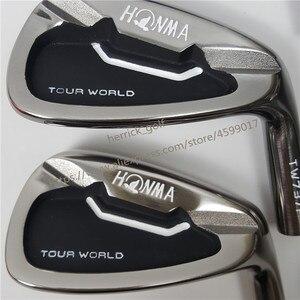 Image 3 - Golf Club Irons Set Honma Tour Wereld TW737p Iron Groep 4 10 W (10 Pcs) zwart Hoofd Steel Shaft R / S Gratis Verzending