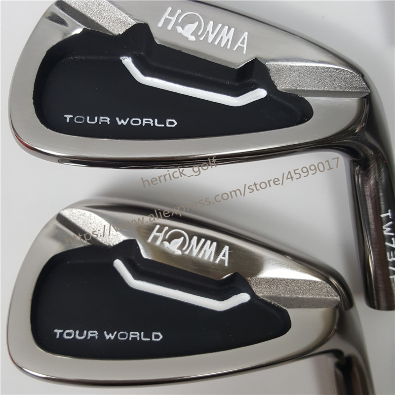 Image 2 - Golf Clubs Professional golfer 737P Golf Irons HONMA Tour World TW737p iron group 3 11 S (10 PCS) Black head steel shaft-in Golf Clubs from Sports & Entertainment