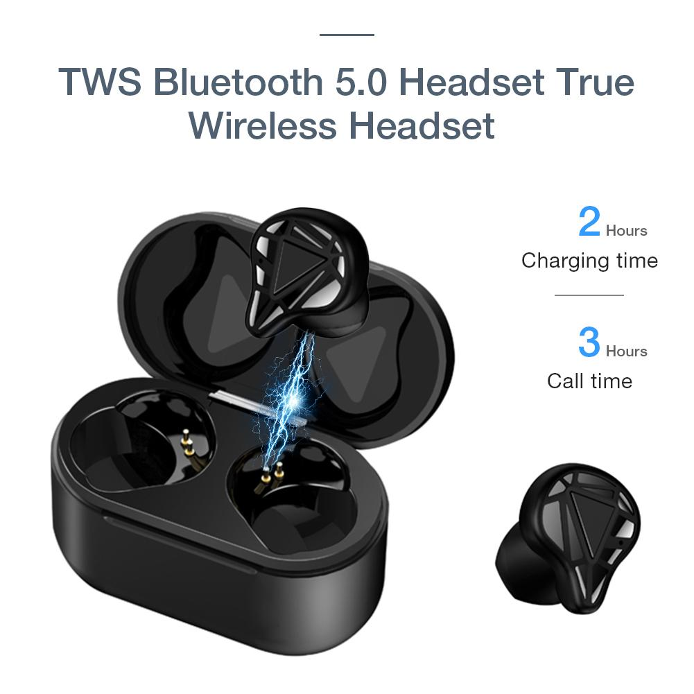 <font><b>T8</b></font> <font><b>TWS</b></font> Bluetooth 5.0 Headset True Wireless Headset Half In Ear Earbuds Auto Pairing Built-in Mic With Charging Case For Xiaomi image