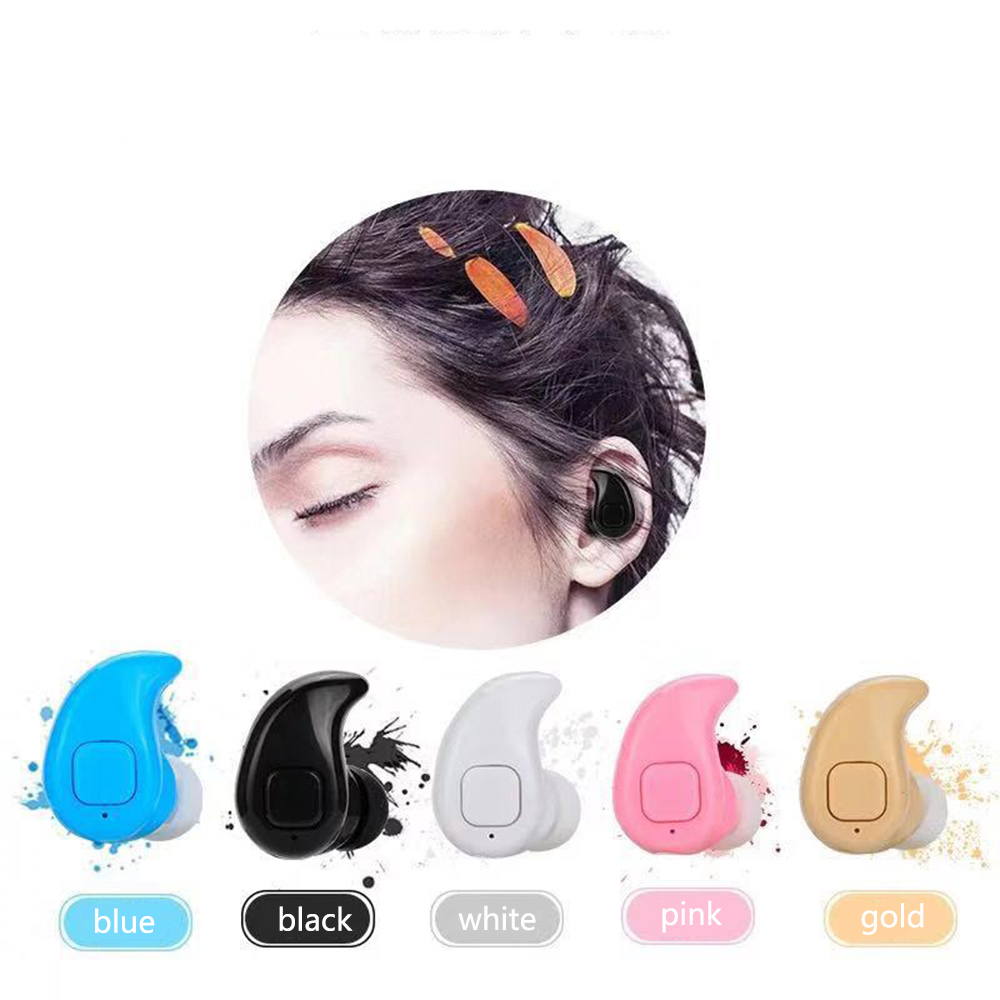 KISSCASE Mini In ear Wireless Bluetooth Earphone Sports Music HiFi Stereo Headset with Microphone Earbuds For Phone Earphones in Phone Earphones Headphones from Consumer Electronics
