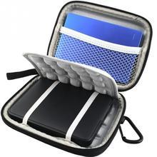 Из искусственной кожи для жесткого диска с противоударный жесткий диск сумка чехол для 2,5 дюймов цифровая 1 ТБ 2 ТБ USB 3,0 внешний EVA черный питания для жесткого диска