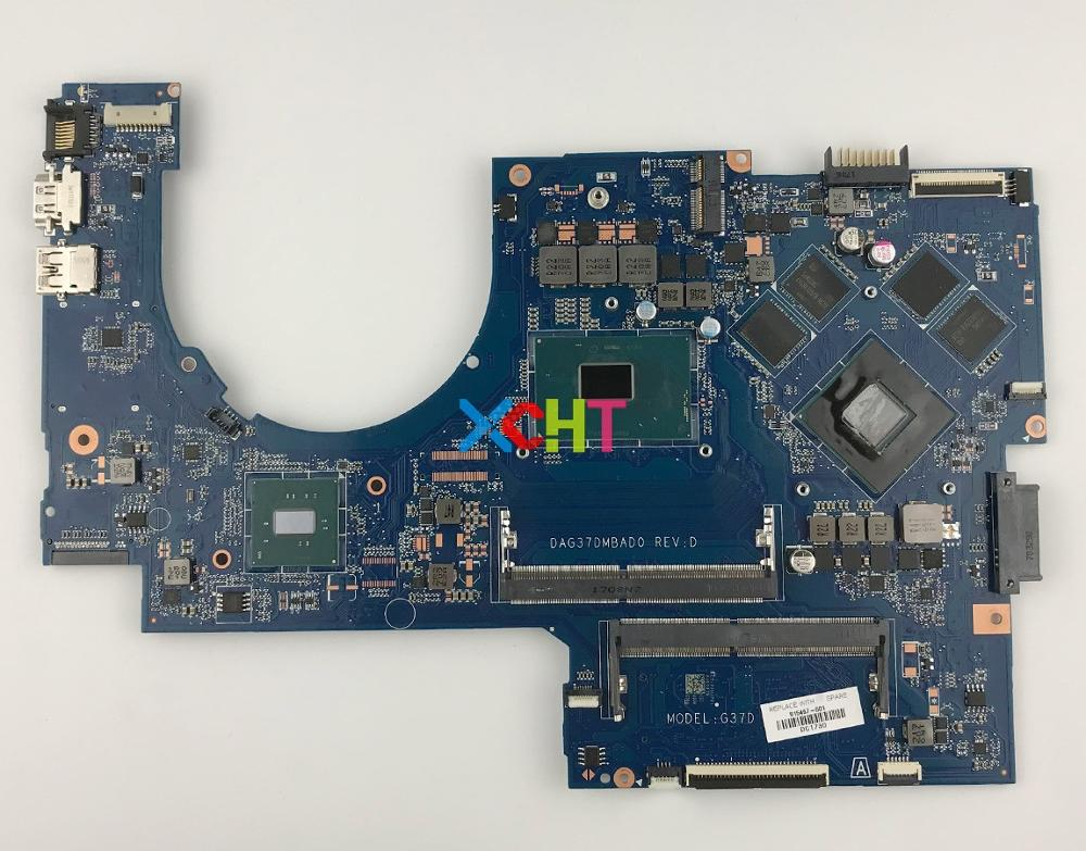 915467 601 915467 001 w 1050/4GB GPU i7 7700HQ CPU DAG37DMBAD0 for HP Notebook 17 ab 17 W 17T W200 17T AB200 Motherboard Tested-in Laptop Motherboard from Computer & Office