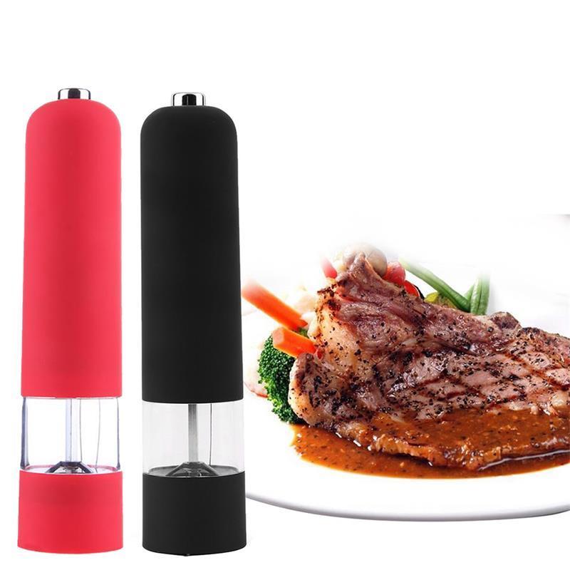 Практичные кухонные инструменты для перца, автоматическая мельница, Электрический перец для соли, травы мельницы, кофемолка с легкой мельн...