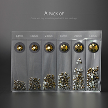 1 wheel crystal nail gems rhinestones for Nail Art glass geometry Gold ore flower jewelry stone decoration manicure