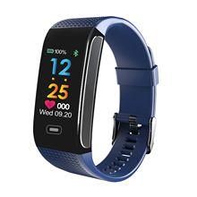 CK18S blue smart bracelet dynamic heart rate color background Bluetooth sports